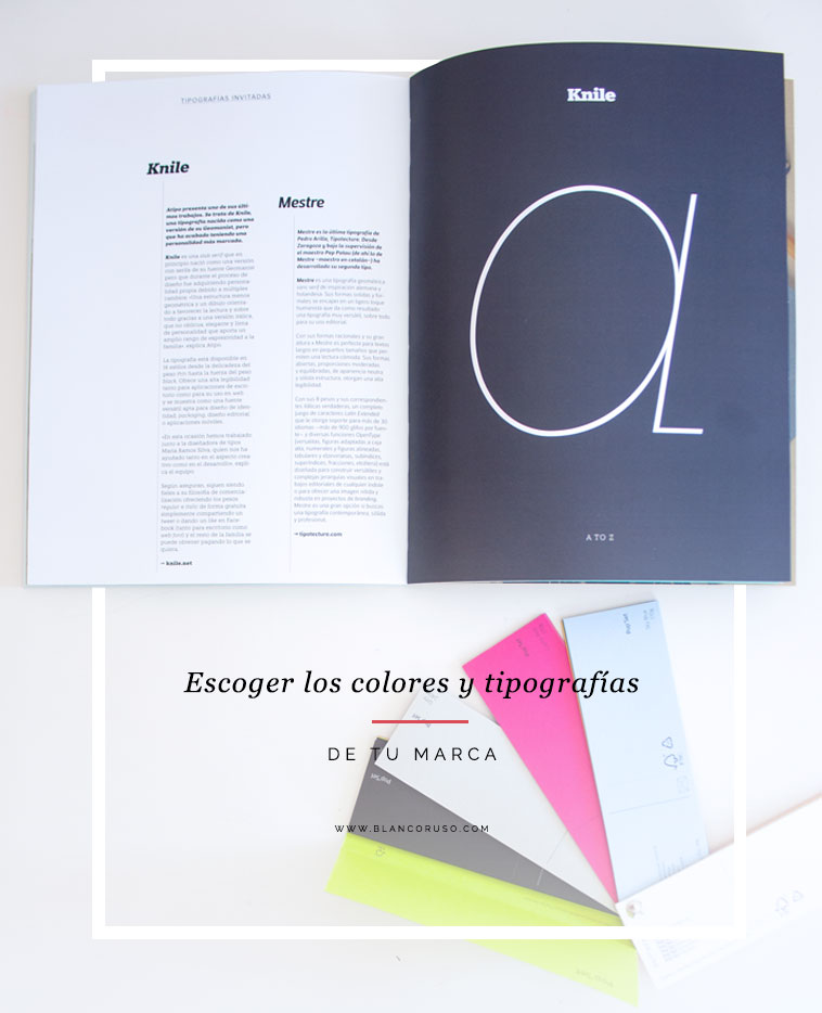 escoger los colores y tipografias